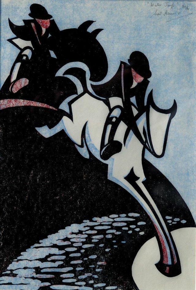 "Sybil Andrews, ""Water Jump,"" 1931"