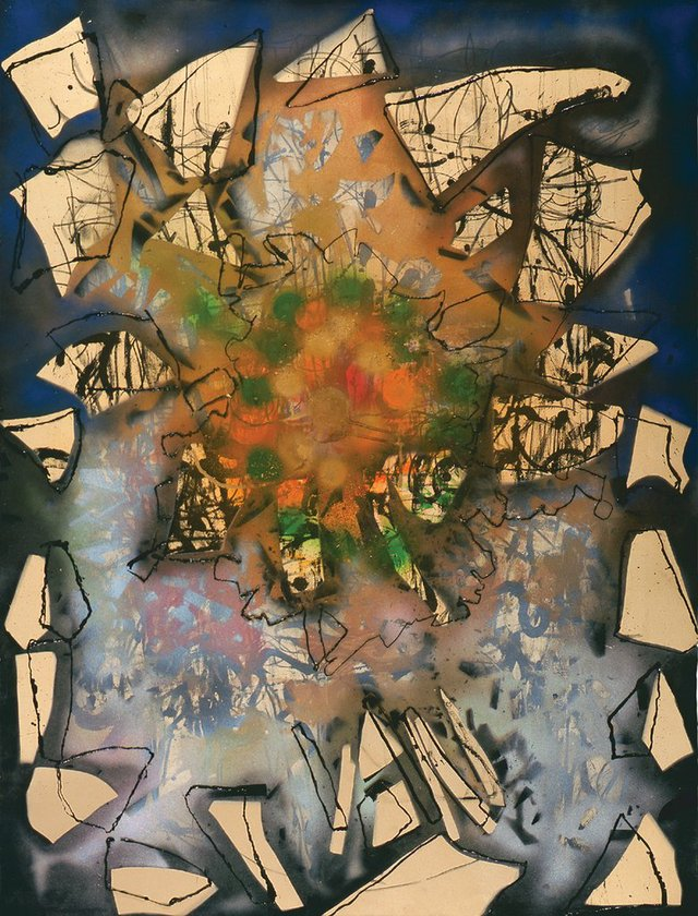 """Jean Paul Riopelle, """"Sans titre,"""" 1990"""