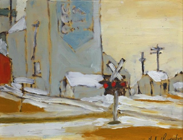 "Michael Burns, ""Railway Crossing,"" 1989"