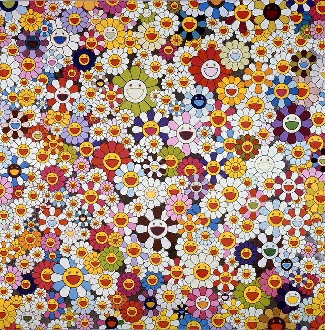 """Takashi Murakami, """"Flowers, flowers, flowers,"""" 2010"""