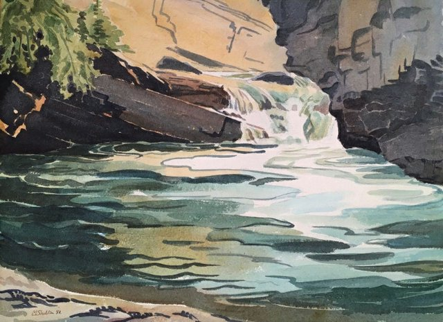 "Margaret Shelton ASA CPE, ""Johnson's Canyon, Lower Falls,""1980"