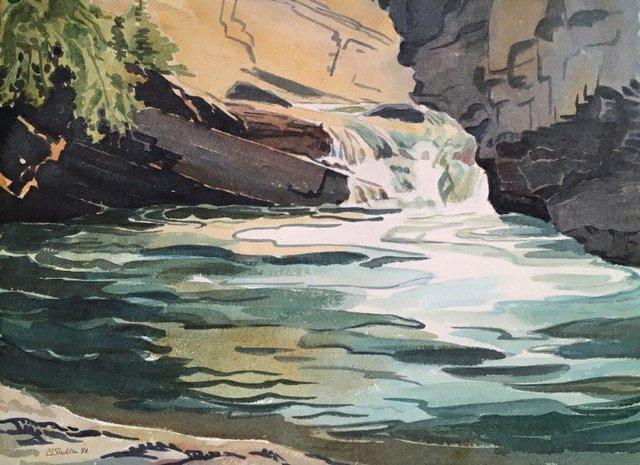 "Margaret Shelton ASA CPE, ""Johnson's Canyon, Lower Falls,""1980"