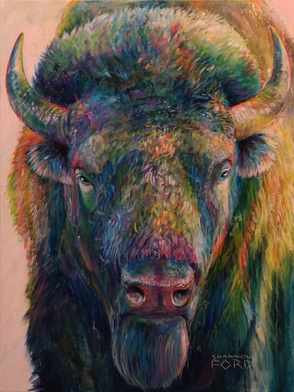 "Shannon Ford, ""Bison Approach,"" nd"