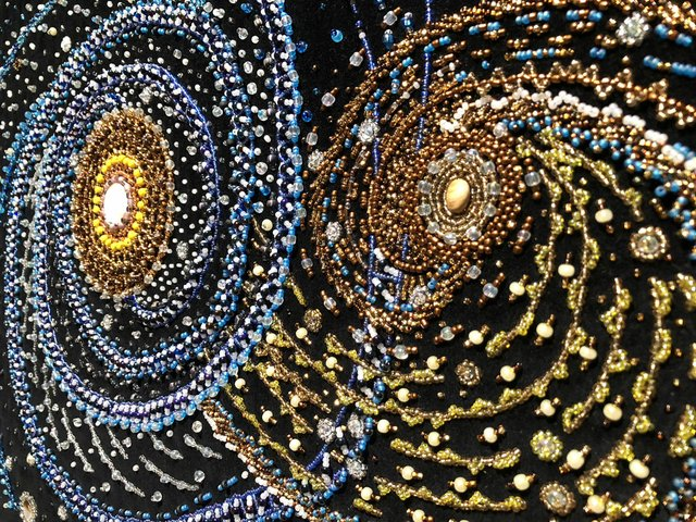 "Margaret Nazon, ""Mask Galaxy"" (detail), no date"