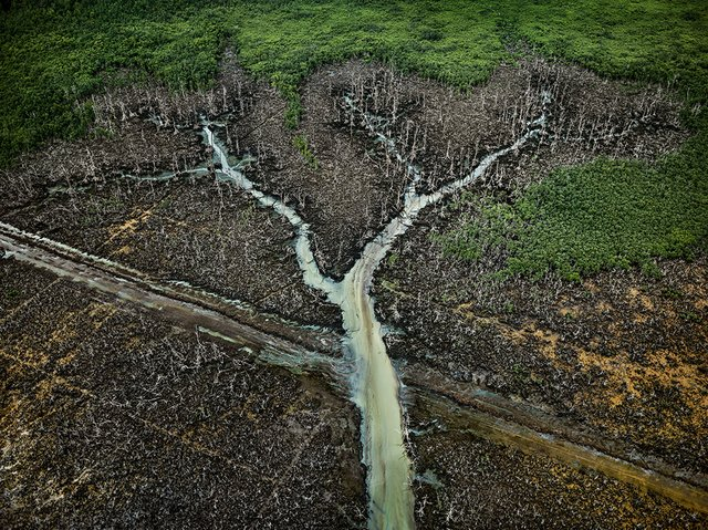 "Edward Burtynsky, ""Oil Bunkering #2 Niger Delta,"" 2016"
