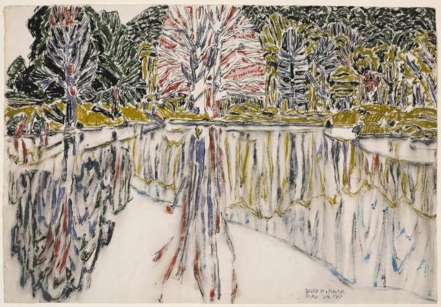 "David Milne, ""Pink Reflections, Bishop's Pond,"" 1920"