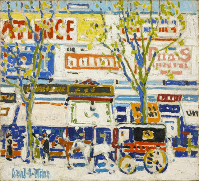 "David Milne, ""Billboards,"" circa 1912"