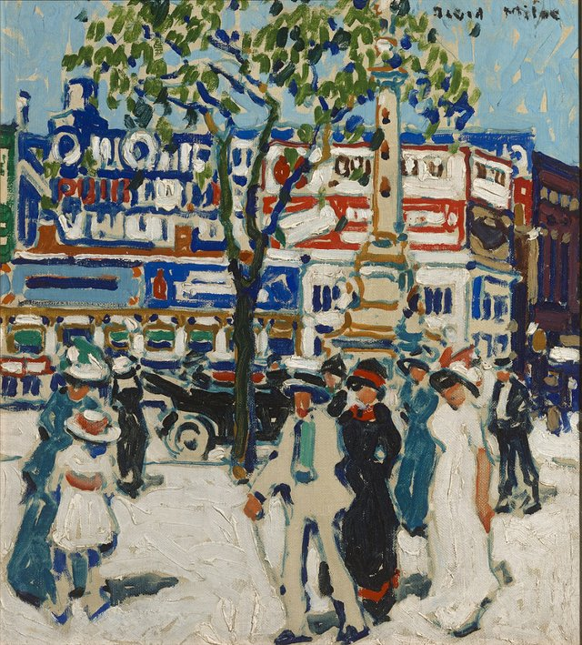 "David Milne, ""Columbus Monument,"" 1912"