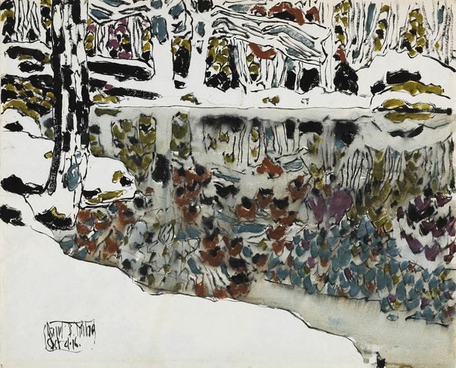 "David Milne, ""Bishop's Pond (Reflections),"" 1916"