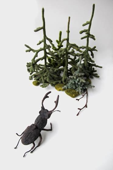 "Eszter Burghardt, ""Esti Mese"" Sculptures from a Bedtime Story,"" 2018"