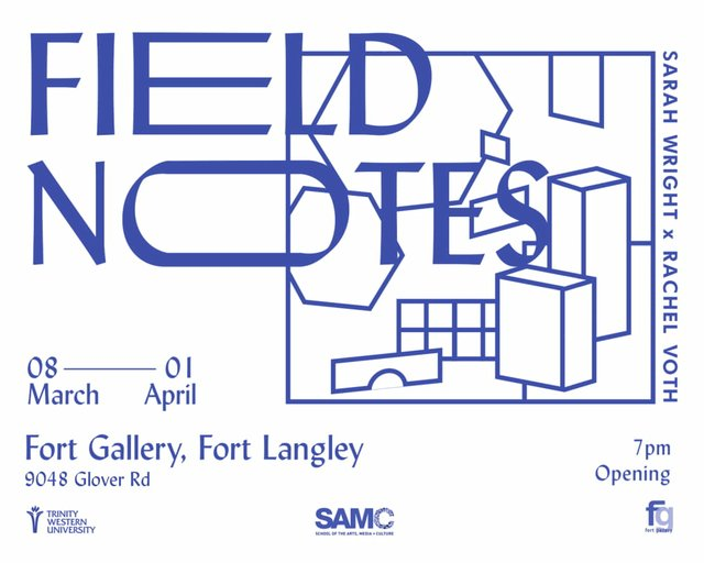 """Sarah Wright and Rachel Voth, """"Field Notes,"""" 2018"""