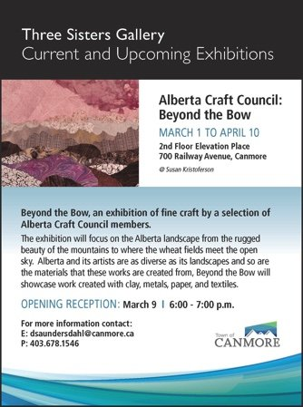 Alberta Craft Council: Beyond the Bow, 2018