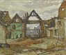 """AY Jackson, """"Houses of Ypres,"""" 1917"""
