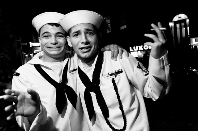 """Kathryn Mussallem, """"Sailors, New York, NY, May 2011,"""" archival pigment print"""