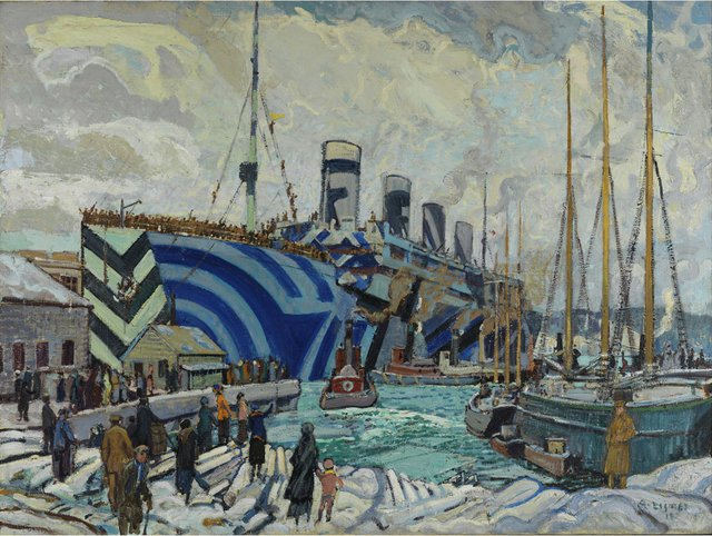 "Arthur Lismer, ""Olympic with Returned Soldiers,"" 1919"