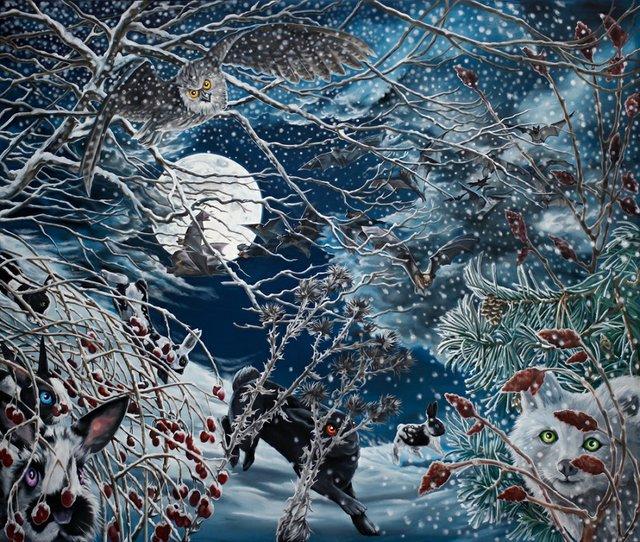 """Julie Oakes, """"Winter,"""" 2014"""