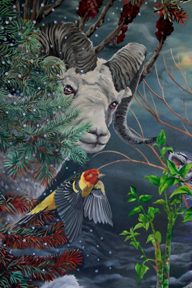 """Julie Oakes, """"Spring"""" (detail), 2014"""