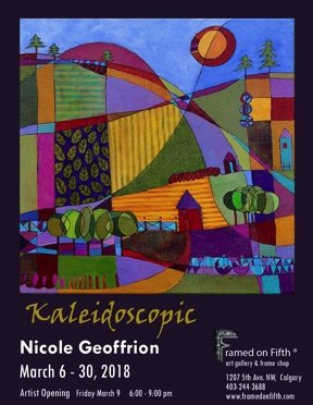 "Nicole Geoffrion, ""Kaleidoscopic,"" 2018"
