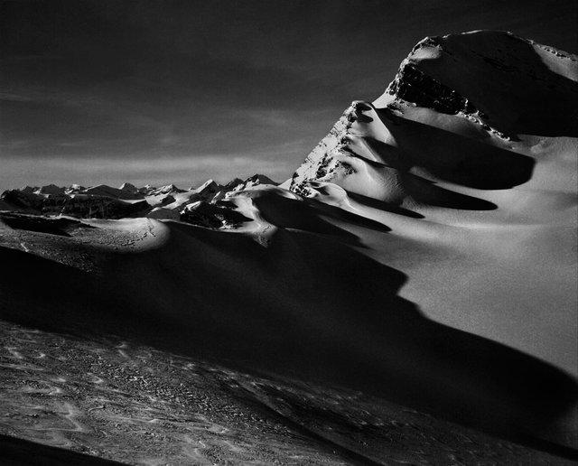 "Jon Goodman, ""Late Sun and Shadow, King's Landing, Columbia Mountains,"" 2015"