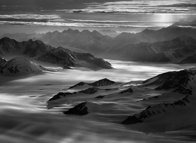 "Sebastião Salgado, ""Walsh Glacier over the Icefield,"" 2011"