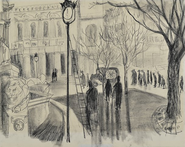 "Molly Lamb Bobak, ""The Procession,"" 1953"