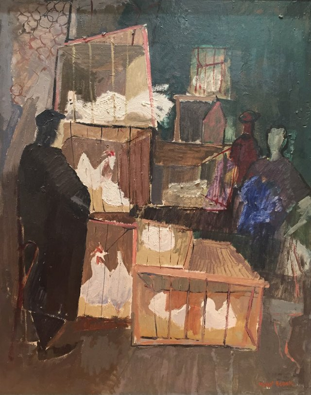 "Molly Lamb Bobak, ""The Chicken Shop,"" circa 1951"