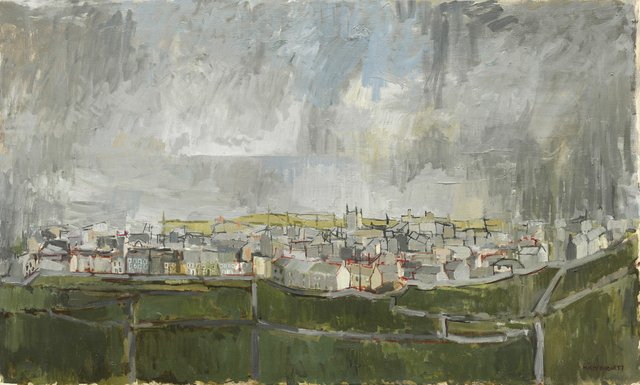 "Molly Lamb Bobak, ""Cornish Town #2,"" 1957"