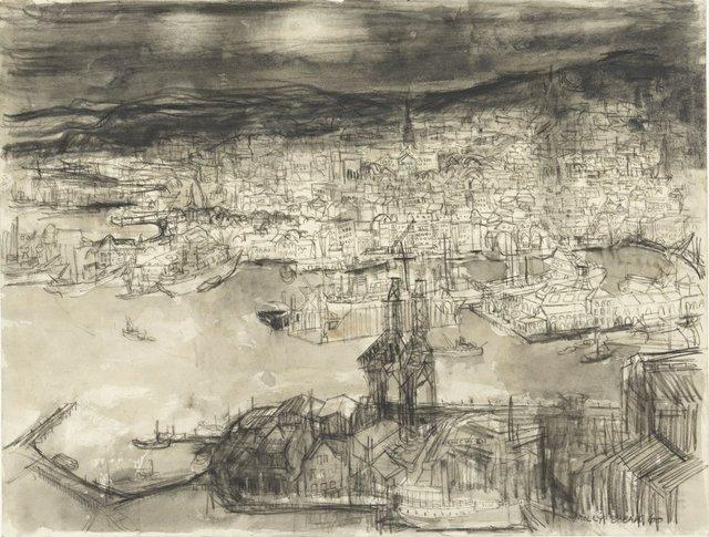 "Molly Lamb Bobak, ""Oslo,"" 1960"
