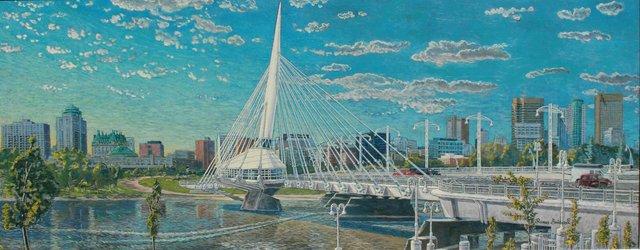 """Roman Swiderek, """"Sunset on the Bridge II,"""" 2010"""