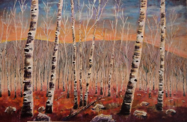 "John Abbott, ""Birches in the Fall,"" nd"