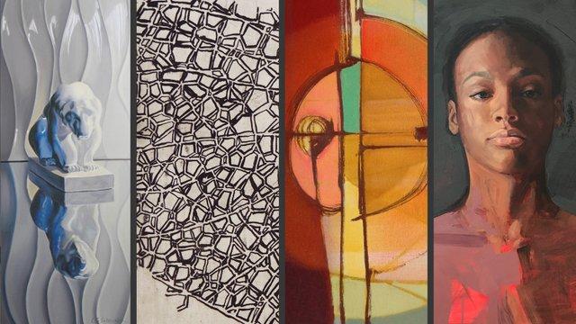 "Lori Lukasewich, Lisa Matthias, Verna Vogel, Karen Klassen, ""Studio Now,"" 2018"