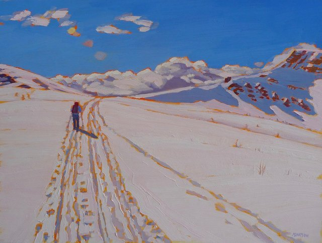 "Jane Isakson, ""Heading Home From Skoki,"" 2018"