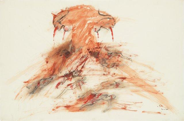 "Nancy Spero, ""Bomb and Victims,"" 1967"