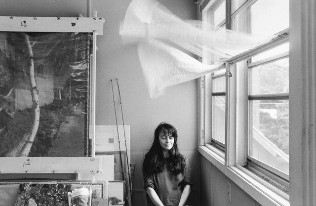 """Raymonde April, """"Autoportrait au Rideau,"""" 1991"""