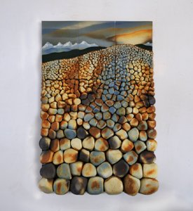 """Ceramic Mural (Rock Field)"""