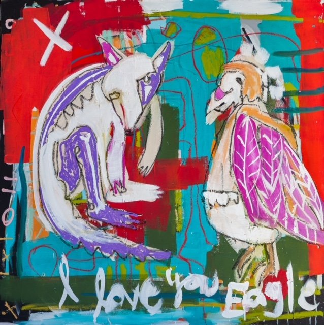 "Mandy Stobo, ""I Love You Eagle,"" 2018"