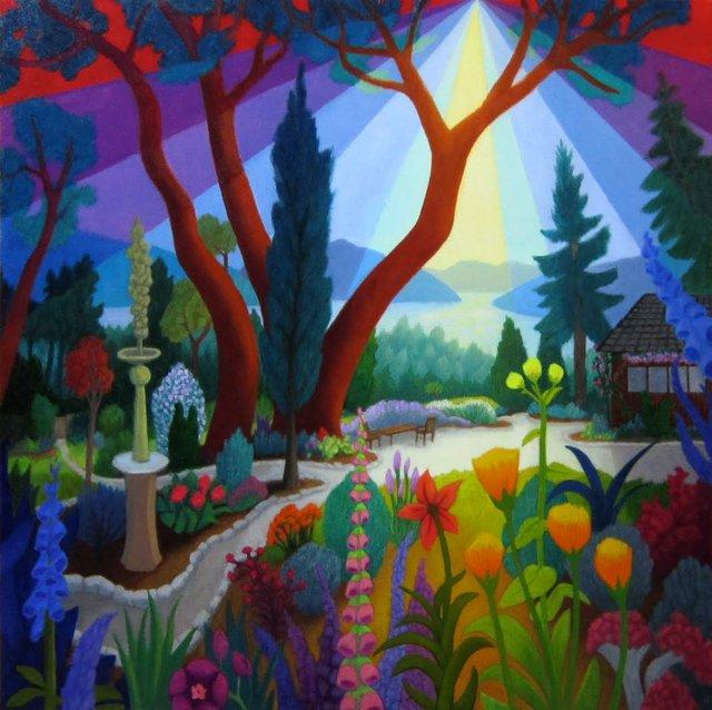 """Light on House and Garden,""  2017"