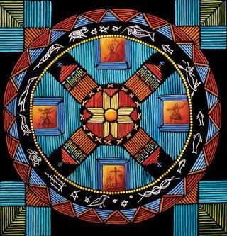 """Teresa Marshall, """"Mi'kmaq Universe,"""" 2005"""