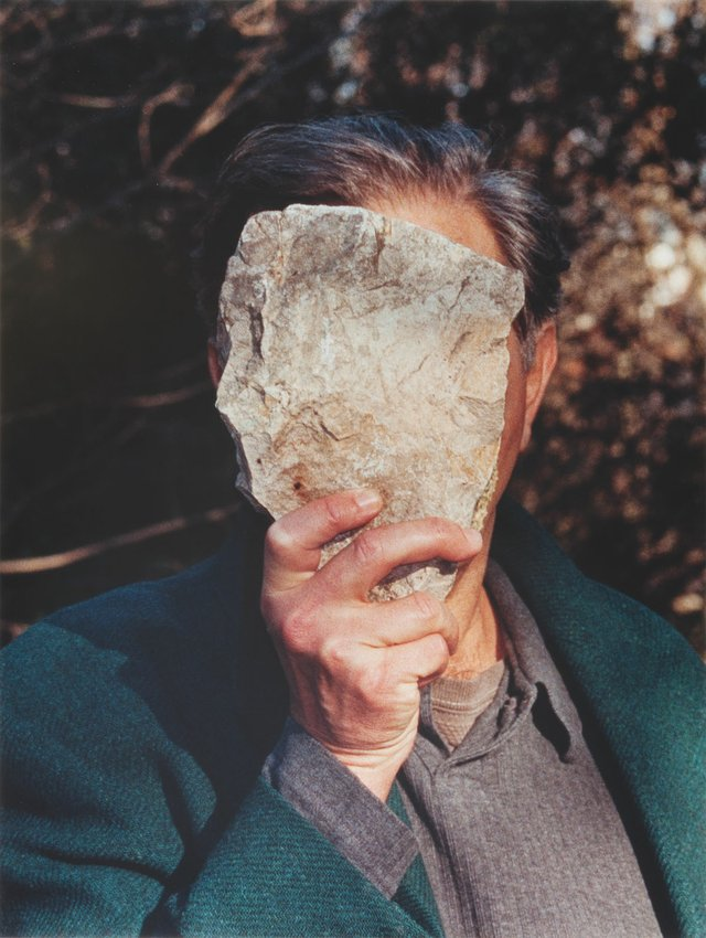 """Jimmie Durham, """"Self-Portrait Pretending to Be a Stone Statue of Myself,"""" 2006"""