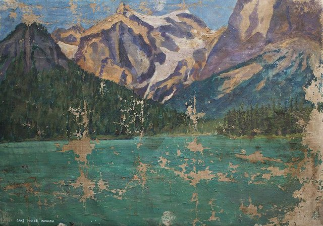 "Winston Churchill, ""Emerald Lake,"" 1929"