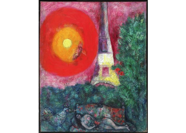 "Marc Chagall, ""The Eiffel Tower,"" 1929"