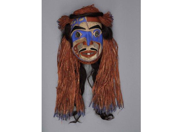 "Nusi, Ian Reid (Heiltsuk), ""Masmasalanua Mask,"" 2009 (MOA 2768/1; photo by Jessica Bushey)"