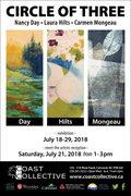 "Carmen Mongeau, Nancy Day, Laura Hilts, ""Circle of Three,"" 2018"