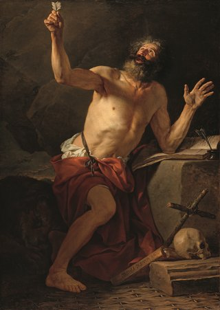 """Jacques-Louis David, """"Saint Jerome,"""" 1779"""
