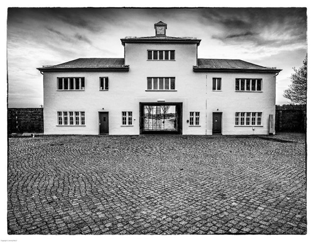 "Jeremy Woolf, ""Sachsenhausen Gatehouse, Oranienburg Germany,"" 2012"
