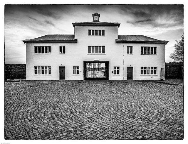 """Jeremy Woolf, """"Sachsenhausen Gatehouse, Oranienburg Germany,"""" 2012"""