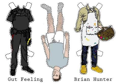 """Brian Hunter, """"Gut Feeling,"""" 2018"""