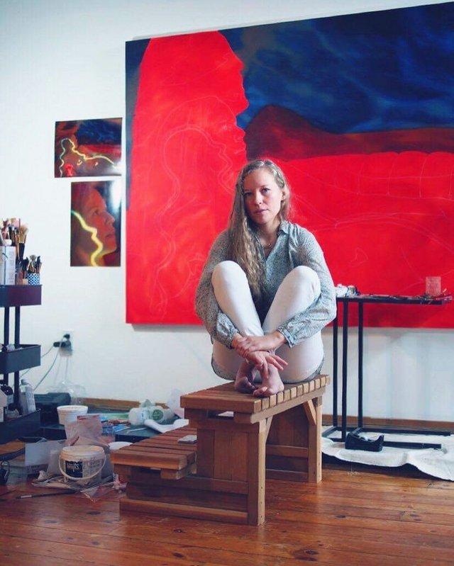 """Jen Mann, """"In Studio,"""" 2018"""