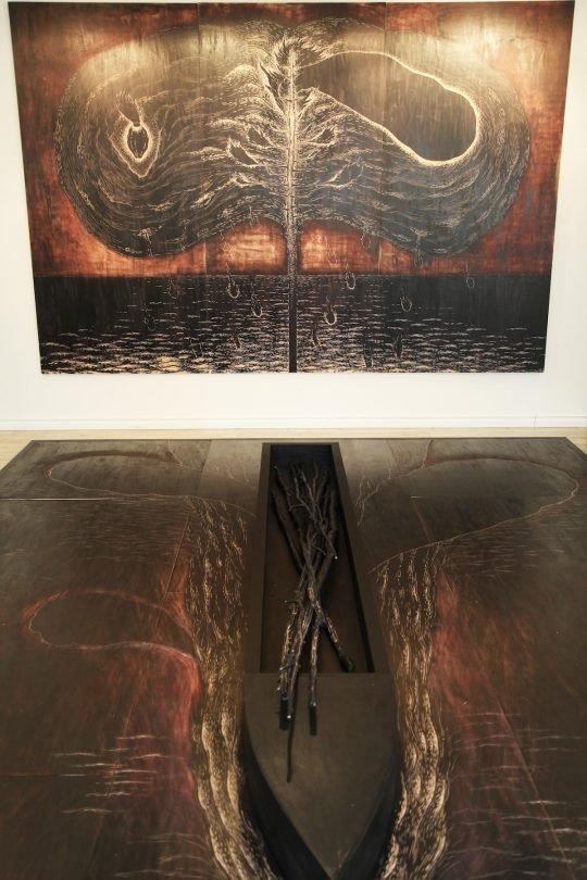 "Sean Caulfield, ""studio view, work in progress,"""