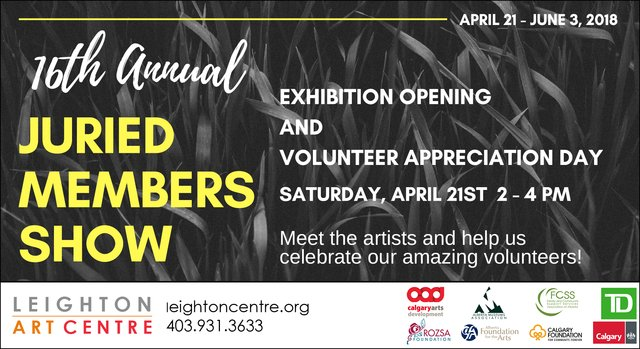 "Leighton Art Centre, ""16th Annual Juried Members Show,"" 2018"
